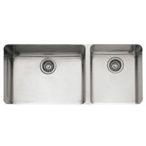 kubus 38 56   x 17 94   double bowl kitchen sink franke 38 inch kitchen sink   wayfair  rh   wayfair com