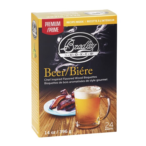 Premium Beer Bisquettes (Set of 24) by Bradley Smoker