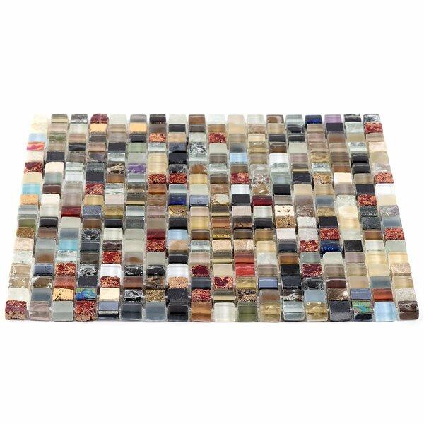 0.6 x 0.6 Glass Mosaic Tile in Kindling by Splashback Tile
