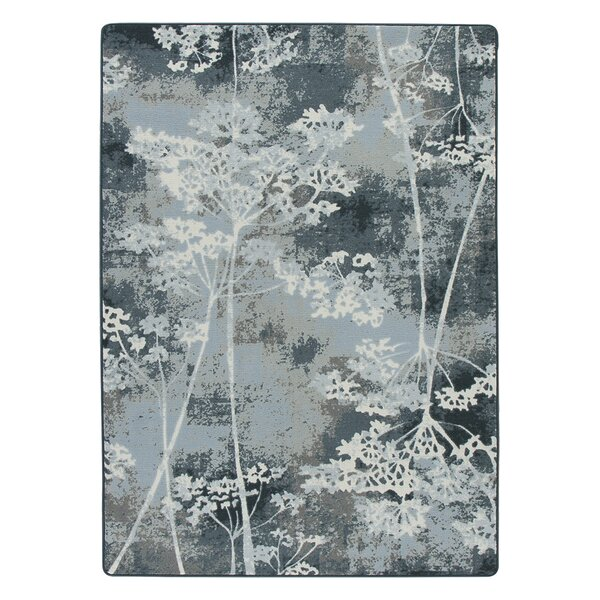 Corell Park Springs Night  Blue Area Rug by Red Barrel Studio