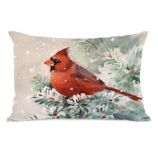 Christmas Cardinal Lumbar Pillow by The Holiday Aisle