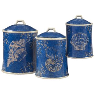 Seaside 3 Piece Kitchen Canister Set by Highland Dunes