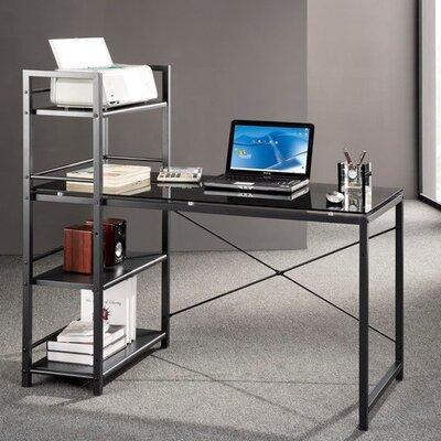Bermondsey Glass Top Writing Desk