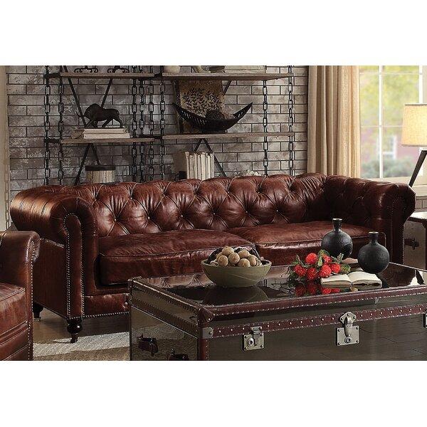 Bavis Leather Sofa by Canora Grey