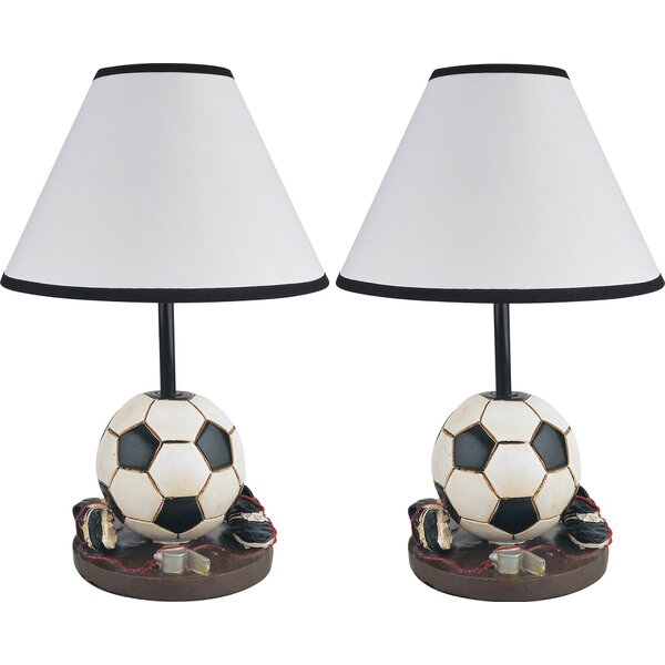Hilda Sports Inspired 16 Table Lamp (Set of 2) by Zoomie Kids