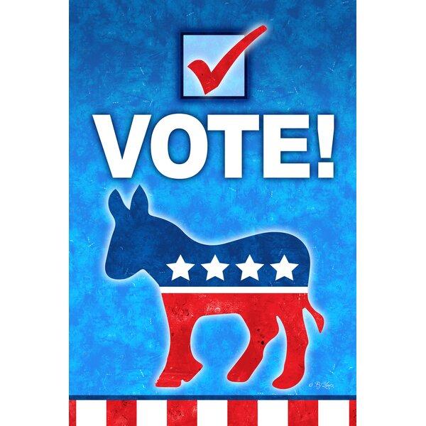 Vote Democrat 2-Sided Garden flag by Toland Home G