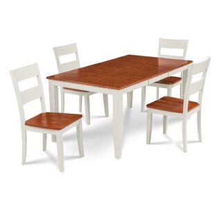 Charlestown 5 Piece HardSolid Wood Dining Set By Alcott Hill