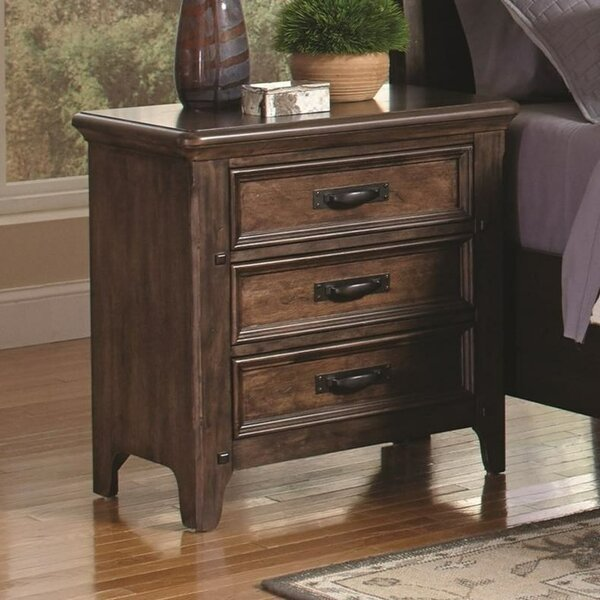 Sheron 3 Drawers Nightstand by Gracie Oaks