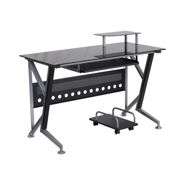 Ferrisburgh 45.25 W x 28.5 D Desk Drawer with Pull-out Keyboard Tray and CPU Cart by Latitude Run