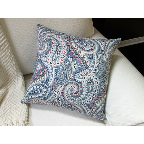 Galiano Paisley Indoor/Outdoor Pillow by Bungalow Rose