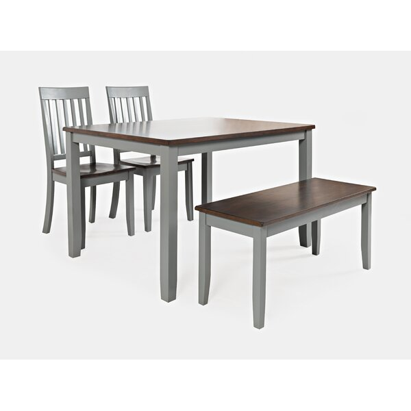 Shepshed 4 Piece Dining Set by Alcott Hill
