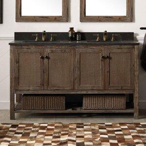 adkins 60 double bathroom vanity set