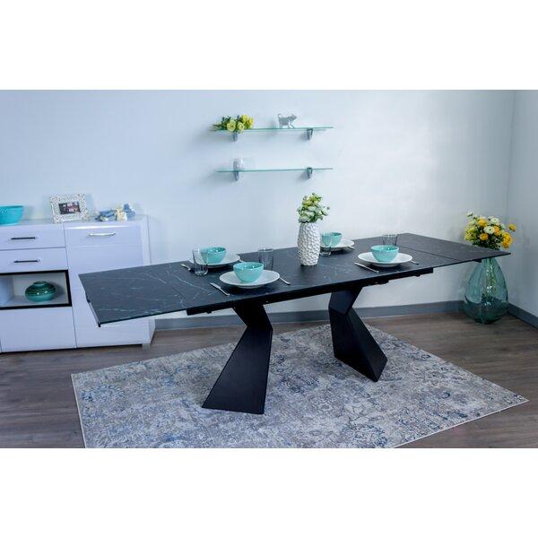 Beauville Glass Top Extendable Dining Table by Brayden Studio Brayden Studio