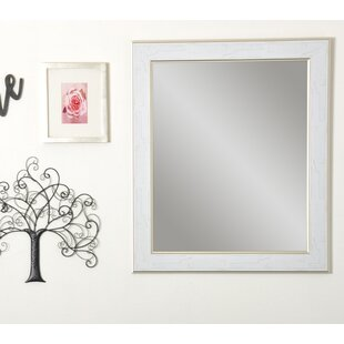 Clearance Rectangle White/Gold Cracked Wall Mirror ByOne Allium Way