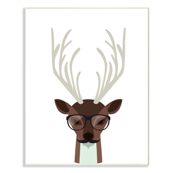 Hipster Deer Oversized Graphic Art Print by Stupell Industries