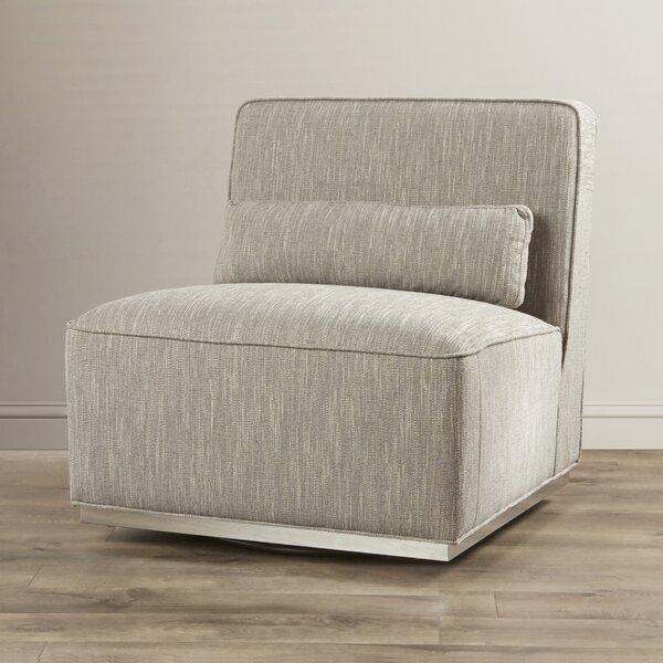 Aranda Swivel Slipper Chair By Everly Quinn