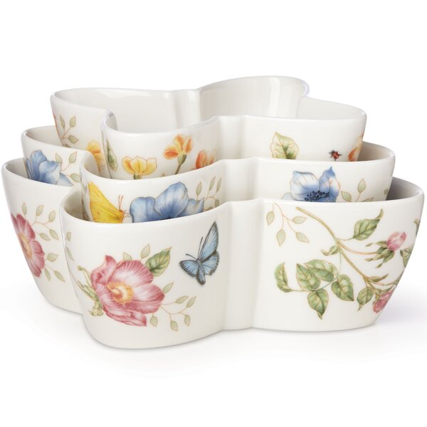 Butterfly Meadow 3 Piece Nesting Serving Bowl Set