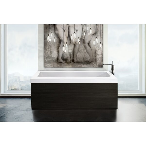Pure 1D 67 x 31.5 Freestanding Soaking Bathtub by Aquatica