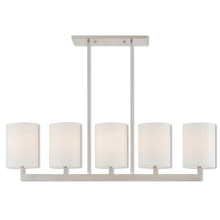 Compare prices Mai Linear 5-Light Kitchen Island Pendant By Zipcode Design