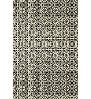 Rudy Elegant Cross Design Black/White Indoor/Outdoor Area Rug by Charlton Home