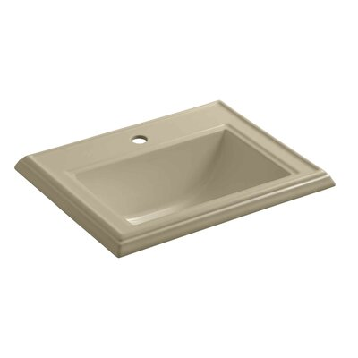 Kohler Drop Sink Ceramic Rectangular Overflow Faucet Single Bathroom Sinks