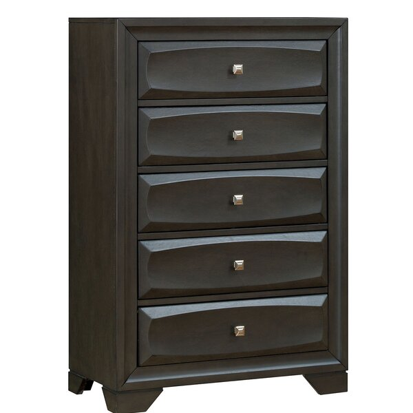 Oceguera Transitional Wood 5 Drawer Chest by Latitude Run