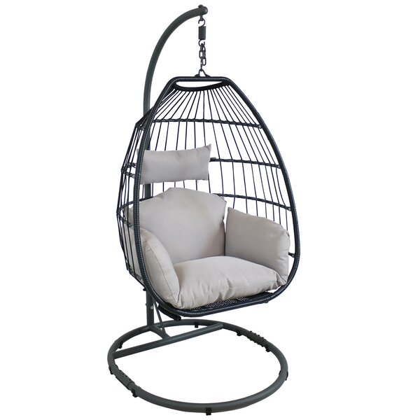 Soren Egg Patio Chair with Cushion by Rosecliff Heights