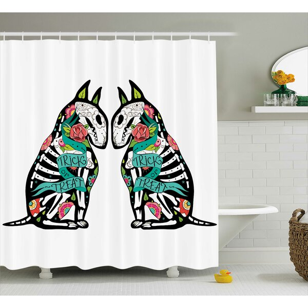 Abstract Art Skeleton Demon Shower Curtain by The Holiday Aisle
