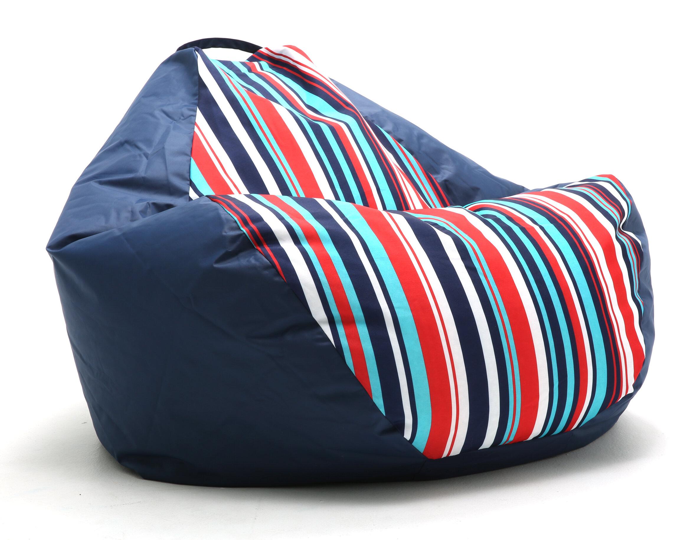 Comfort Research Big Joe Outdoor Teardrop Cozumel Stripe Bean Bag Chair |  Wayfair