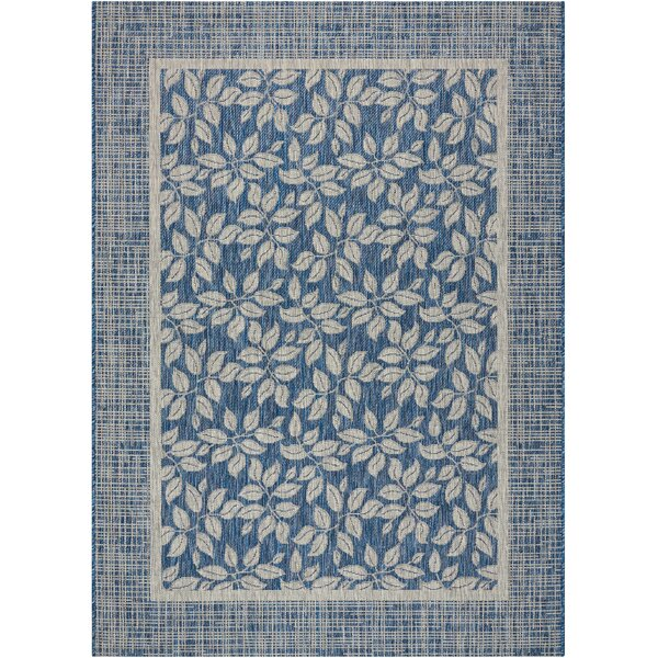 Key Haven Denim Indoor/Outdoor Area Rug by Bay Isle Home