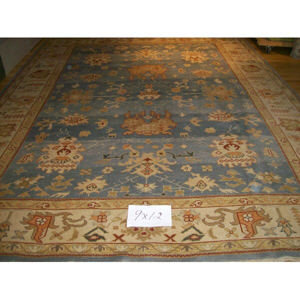 One-of-a-Kind Eliam Hand-Woven Wool Light Blue Area Rug by Darby Home Co