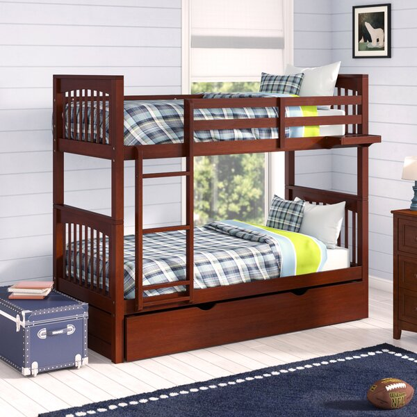 Granville Twin Over Twin Bunk Bed with Trundle by Viv + Rae