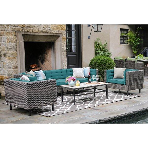Kenn 6 Piece Deep Sunbrella Sofa Set with Cushions by Brayden Studio