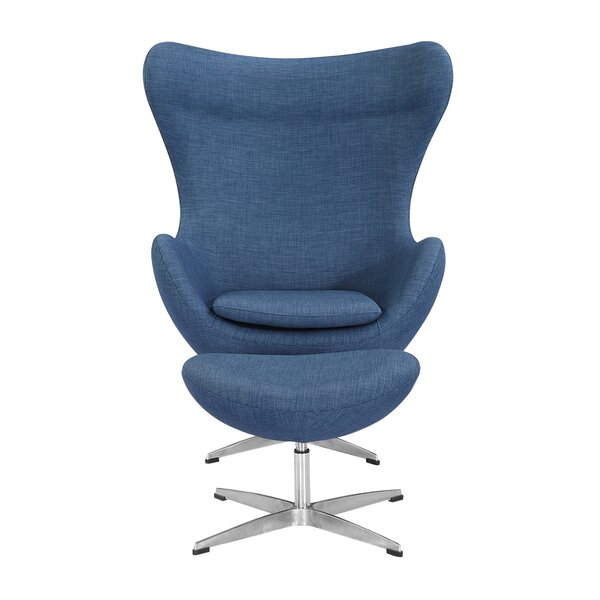 Deniela Swivel Lounge Chair and Ottoman by Orren Ellis