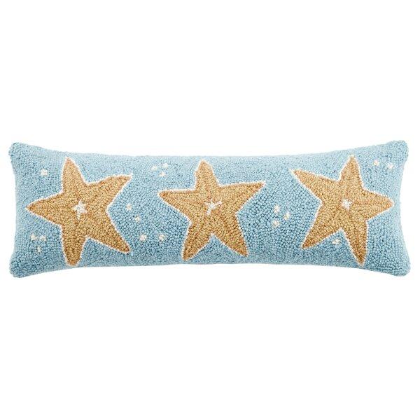 Starfish Trio Wool Lumbar Pillow by Peking Handicraft