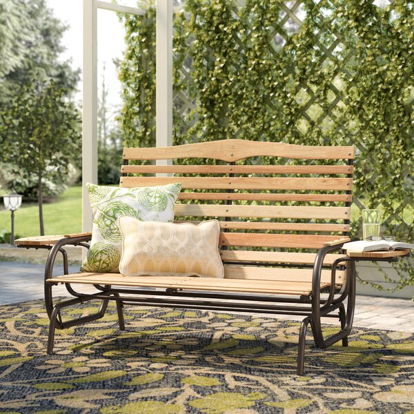 Purini Glider Bench by August Grove