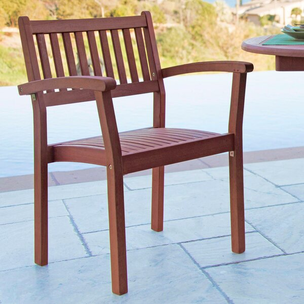 Amabel Stacking Patio Dining Chair (Set of 2) by Beachcrest Home