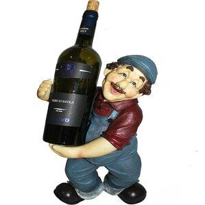 Farmer 1 Bottle Tabletop Wine Bottle Rack by ESSENTIAL DÉCOR & BEYOND, INC