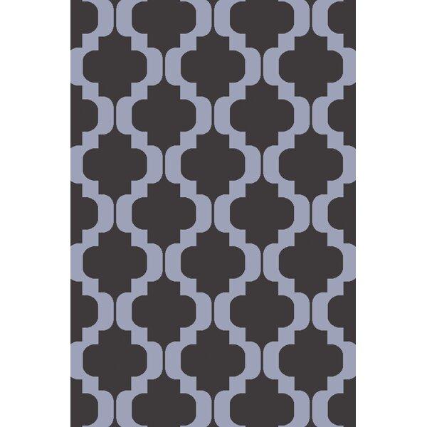 West Harptree Black/Purple Area Rug by Wrought Studio