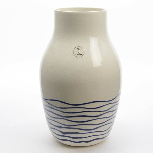 Seaside Treasures Striped Crackle Finished Vase by Northlight Seasonal
