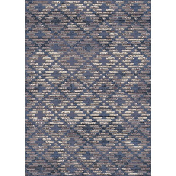 Brownfield Trellis Moroccan Modern Blue/Beige Area Rug by Union Rustic