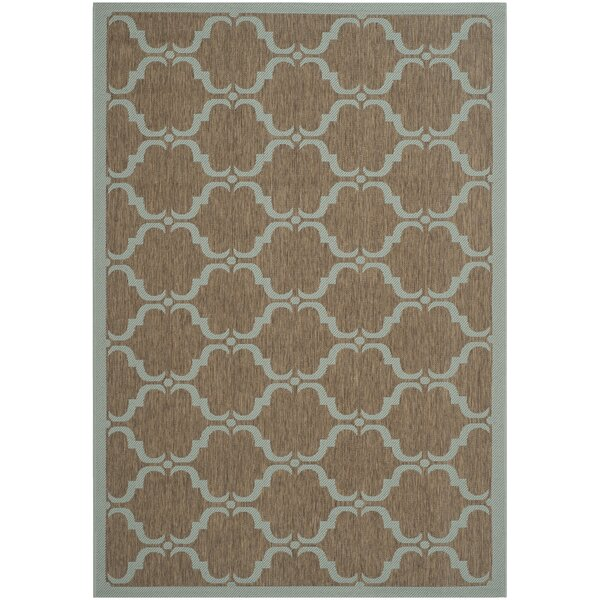 Larson Brown/Aqua Indoor/Outdoor Area Rug by Sol 72 Outdoor