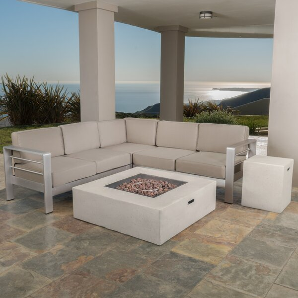 Royalston 5 Piece Sectional Seating Group with Cushions by Brayden Studio Brayden Studio