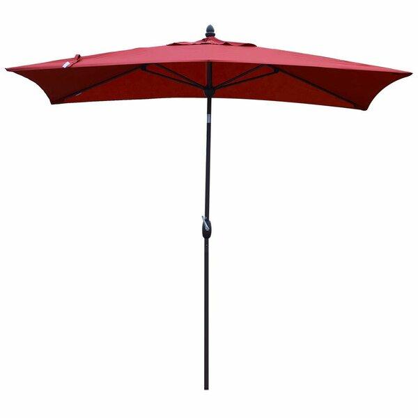 Ertan 10' X 7' Rectangular Market Umbrella By Ebern Designs by Ebern Designs