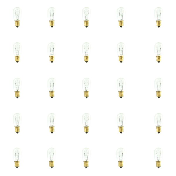 15W Dimmable Incandescent Light Bulb (Set of 25) by Bulbrite Industries