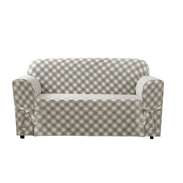 Buffalo Check Box Cushion Loveseat Slipcover by Sure Fit