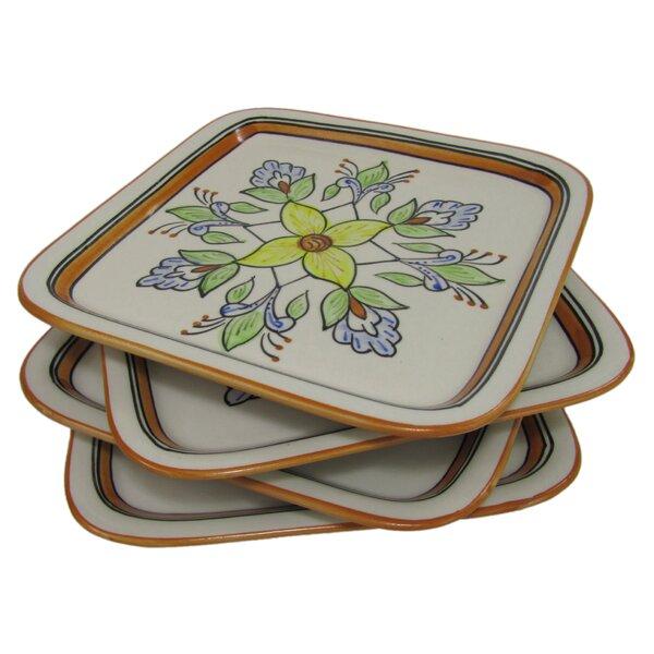 Salvena Square Stoneware 9 Dinner Plate (Set of 4) by Le Souk Ceramique