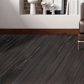 Timeless Revolution 6.5 x 48 x 12mm Canadian Maple Laminate Flooring in Midnight by All American Hardwood