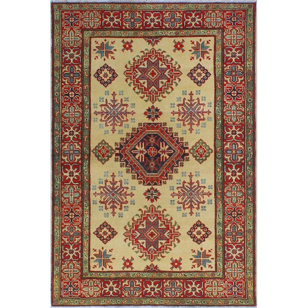 One-of-a-Kind Wendland Harry Hand-Knotted Beige Area Rug by Loon Peak