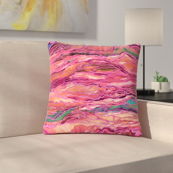 Ebi Emporium Marble Idea!, Miami Heat Outdoor Throw Pillow by East Urban Home
